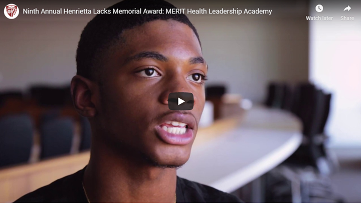Devin Harris, MERIT's 2021 class president who accepted the 2019 Award